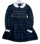 "<img src=""https://p11.secure.hostingprod.com/@grammies-attic.com/ssl/images/blue-sold-1.gif""> Polly Flinders Navy Plaid Smocked Little Girls Dress with White Collar"