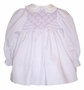 "<img src=""https://p11.secure.hostingprod.com/@grammies-attic.com/ssl/images/blue-sold-1.gif""> Polly Flinders Smocked Lilac Baby Dress with Embroidered Flowers"