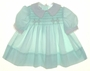 "<img src=""https://p11.secure.hostingprod.com/@grammies-attic.com/ssl/images/blue-sold-1.gif""> Polly Flinders Pale Green Smocked Dress with White Lace Edged Collar and Cuffs"