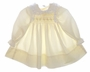 "<img src=""https://p11.secure.hostingprod.com/@grammies-attic.com/ssl/images/blue-sold-1.gif""> Polly Flinders Pale Yellow Smocked Baby Dress with Lace and Eyelet Trim"