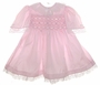 "<img src=""https://p11.secure.hostingprod.com/@grammies-attic.com/ssl/images/blue-sold-1.gif""> Polly Flinders Pale Pink Taffeta Smocked Toddler Dress with Lace Trim"