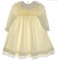 "<img src=""https://p11.secure.hostingprod.com/@grammies-attic.com/ssl/images/blue-sold-1.gif""> Polly Flinders Pale Yellow Smocked Baby Dress with Lace Trim"