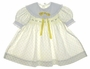 "<img src=""https://p11.secure.hostingprod.com/@grammies-attic.com/ssl/images/blue-sold-1.gif""> Polly Flinders White Smocked Baby Dress with Yellow Rosebud Print"
