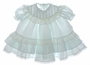 "<img src=""https://p11.secure.hostingprod.com/@grammies-attic.com/ssl/images/blue-sold-1.gif""> Polly Flinders Pale Green Ruffled Baby Dress with Embroidered Rosebuds"