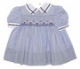 "<img src=""https://p11.secure.hostingprod.com/@grammies-attic.com/ssl/images/blue-sold-1.gif""> Polly Flinders Blue Smocked Sailor Dress with Embroidered Sailboats"