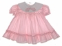 "<img src=""https://p11.secure.hostingprod.com/@grammies-attic.com/ssl/images/blue-sold-1.gif""> Polly Flinders Pink Striped Smocked Baby Dress with White Portrait Collar"