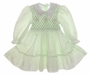 "<img src=""https://p11.secure.hostingprod.com/@grammies-attic.com/ssl/images/blue-sold-1.gif""> Polly Flinders Lime Smocked Baby Dress with Embroidered Organdy Collar"