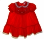"<img src=""https://p11.secure.hostingprod.com/@grammies-attic.com/ssl/images/blue-sold-1.gif""> Polly Flinders Red Smocked Dress with White Eyelet Trimmed Collar and Hem Ruffle"