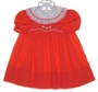 "<img src=""https://p11.secure.hostingprod.com/@grammies-attic.com/ssl/images/blue-sold-1.gif""> Polly Flinders Red Smocked Dress with White Lace Edged Collar"