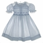 "<img src=""https://p11.secure.hostingprod.com/@grammies-attic.com/ssl/images/blue-sold-1.gif""> Polly Flinders Blue Flowered Smocked Dress with White Eyelet Trim"