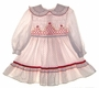 "<img src=""https://p11.secure.hostingprod.com/@grammies-attic.com/ssl/images/blue-sold-1.gif""> Polly Flinders White Dotted Toddler Dress with Red Embroidery"