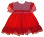"<img src=""https://p11.secure.hostingprod.com/@grammies-attic.com/ssl/images/blue-sold-1.gif""> Polly Flinders Red Smocked Dress with Red Checked Portrait Collar"