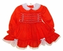 "<img src=""https://p11.secure.hostingprod.com/@grammies-attic.com/ssl/images/blue-sold-1.gif""> Polly Flinders Red Dotted Smocked Dress with White Eyelet Trim"