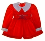 "<img src=""https://p11.secure.hostingprod.com/@grammies-attic.com/ssl/images/blue-sold-1.gif""> Polly Flinders Red Smocked Dress with White Collar and Embroidered Flowers"