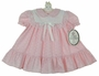 "<img src=""https://p11.secure.hostingprod.com/@grammies-attic.com/ssl/images/blue-sold-1.gif""> NEW Polly Flinders Pink Flowered Dress with Lace Yoke"