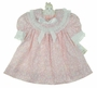 "<img src=""https://p11.secure.hostingprod.com/@grammies-attic.com/ssl/images/blue-sold-1.gif""> NEW Polly Flinders Pink Flowered Dress with Double Eyelet Trimmed Collar"
