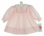 "<img src=""https://p11.secure.hostingprod.com/@grammies-attic.com/ssl/images/blue-sold-1.gif""> NEW Polly Flinders Pink Smocked Dress with Lace Trimmed White Collar and Cuffs"