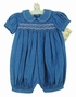 "<img src=""https://p11.secure.hostingprod.com/@grammies-attic.com/ssl/images/blue-sold-1.gif""> Polly Flinders Denim Smocked Bubble with Embroidered Collar"