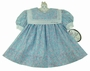 "<img src=""https://p11.secure.hostingprod.com/@grammies-attic.com/ssl/images/blue-sold-1.gif""> NEW Polly Flinders Blue Flowered Dress with Double Portrait Collar"
