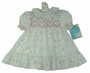 "<img src=""https://p11.secure.hostingprod.com/@grammies-attic.com/ssl/images/blue-sold-1.gif""> NEW Polly Flinders White and Pink Flowered Smocked Dress with Ruffled Neck and Hem"