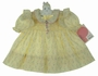"<img src=""https://p11.secure.hostingprod.com/@grammies-attic.com/ssl/images/blue-sold-1.gif""> NEW Polly Flinders Yellow Flowered Smocked Dress with Pinafore Sleeve Ruffles"