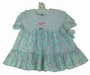 "<img src=""https://p11.secure.hostingprod.com/@grammies-attic.com/ssl/images/blue-sold-1.gif""> NEW Polly Flinders Blue Flowered Dress with Double White Lace Trimmed Collar"
