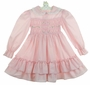 "<img src=""https://p11.secure.hostingprod.com/@grammies-attic.com/ssl/images/blue-sold-1.gif""> Polly Flinders Pink Smocked Dress with Double Ruffled Hem"