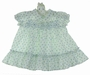 "<img src=""https://p11.secure.hostingprod.com/@grammies-attic.com/ssl/images/blue-sold-1.gif""> Polly Flinders Blue Rosebud Print Smocked Baby Dress with Embroidered Bows"