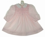"<img src=""https://p11.secure.hostingprod.com/@grammies-attic.com/ssl/images/blue-sold-1.gif""> Polly Flinders Pink Smocked Dress with Lace Trimmed Sleeves"