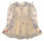 "<img src=""https://p11.secure.hostingprod.com/@grammies-attic.com/ssl/images/blue-sold-1.gif""> Polly Flinders Cream Flowered Dress with Sheer Smocked Pinafore"