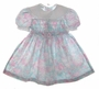 "<img src=""https://p11.secure.hostingprod.com/@grammies-attic.com/ssl/images/blue-sold-1.gif""> Polly Flinders Pink and Aqua Smocked Dress with White Lace Trimmed Collar"