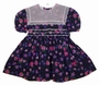 "<img src=""https://p11.secure.hostingprod.com/@grammies-attic.com/ssl/images/blue-sold-1.gif""> Polly Flinders Navy Dotted Flowered Toddler Dress with Square White Lace Collar"