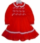 "<img src=""https://p11.secure.hostingprod.com/@grammies-attic.com/ssl/images/blue-sold-1.gif""> Polly Flinders Red Smocked Little Girls Dress with Embroidered White Flowers"