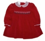 "<img src=""https://p11.secure.hostingprod.com/@grammies-attic.com/ssl/images/blue-sold-1.gif""> Polly Flinders Dark Red Velvet Smocked Dress with Lace Collar and Long or Short Sleeves"