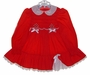 "<img src=""https://p11.secure.hostingprod.com/@grammies-attic.com/ssl/images/blue-sold-1.gif""> Polly Flinders Red Smocked Toddler Dress with White Eyelet Collar"