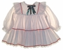 "<img src=""https://p11.secure.hostingprod.com/@grammies-attic.com/ssl/images/blue-sold-1.gif""> Polly Flinders White Dotted Baby Dress with Red and Green Ribbons"