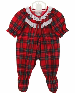 Christmas pajamas,baby Christmas pajamas,baby girl pajamas,red ...