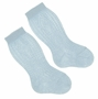 NEW Carlino Blue Cotton Knee Socks
