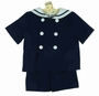 "<img src=""http://site.grammies-attic.com/images/blue-sold-1.gif""> NEW Gordon and Company Navy Sailor Shorts Set with White Trim"