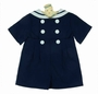 NEW Gordon & Company Navy Sailor Button On Shorts Set with White Trim