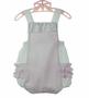 "<img src=""https://p11.secure.hostingprod.com/@grammies-attic.com/ssl/images/blue-sold-1.gif""> NEW Will'Beth Vintage Style Pink Seersucker Sunsuit with Ruffled Bottom"