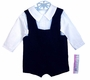 "<img src=""https://p11.secure.hostingprod.com/@grammies-attic.com/ssl/images/blue-sold-1.gif""> NEW C. I. Castro Navy Velvet Shortall with White Pintucked Shirt"