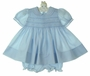 "<img src=""https://p11.secure.hostingprod.com/@grammies-attic.com/ssl/images/blue-sold-1.gif""> NEW Feltman Brothers Blue Smocked Baby Dress with Fagoted Collar and Cuffs"