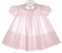 "<img src=""https://p11.secure.hostingprod.com/@grammies-attic.com/ssl/images/blue-sold-1.gif""> NEW Feltman Brothers Pale Pink Smocked Baby Dress with Pleated Front"