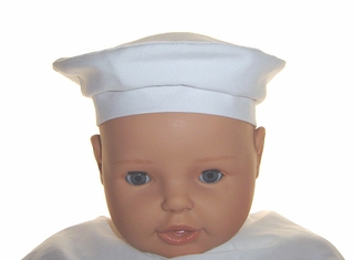 e0af5cf96e4 NEW Will beth White Batiste Beret Style Hat for Babies and Toddlers