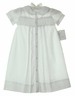 NEW Petit Ami Smocked Newborn Daygown with Fagoted Collar in White or Blue