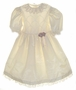 "<img src=""https://p11.secure.hostingprod.com/@grammies-attic.com/ssl/images/blue-sold-1.gif""> Polly Flinders Ivory Taffeta Dress with Lace Collar and Sleeve Ruffles"