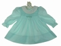 "<img src=""https://p11.secure.hostingprod.com/@grammies-attic.com/ssl/images/blue-sold-1.gif""> Polly Flinders Aqua Smocked Dress with White Lace Trimmed Collar"