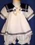 "<img src=""https://p11.secure.hostingprod.com/@grammies-attic.com/ssl/images/blue-sold-1.gif""> Dressy Cream Sailor Dress with Matching Bloomers for Baby Girls"