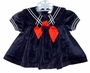 "<img src=""https://p11.secure.hostingprod.com/@grammies-attic.com/ssl/images/blue-sold-1.gif""> Baby Girls Navy Velour Sailor Dress with Red Tie"